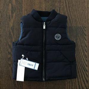 Jacadi Baby Boy Blue Reversible Vest